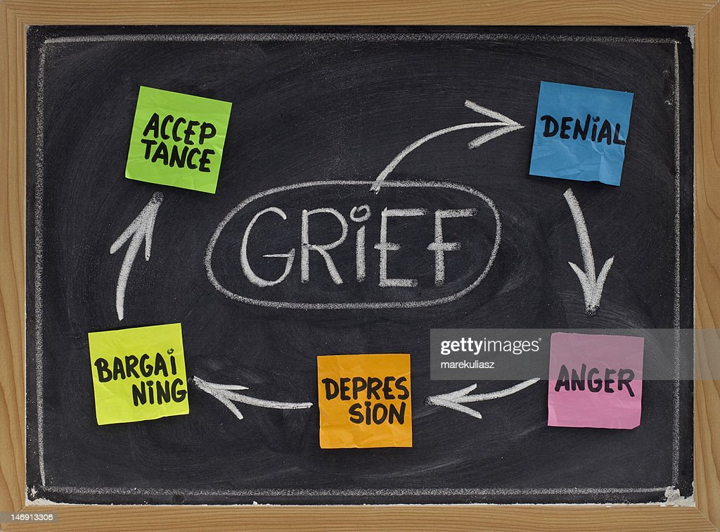 The five stages of grief : Stock Photo