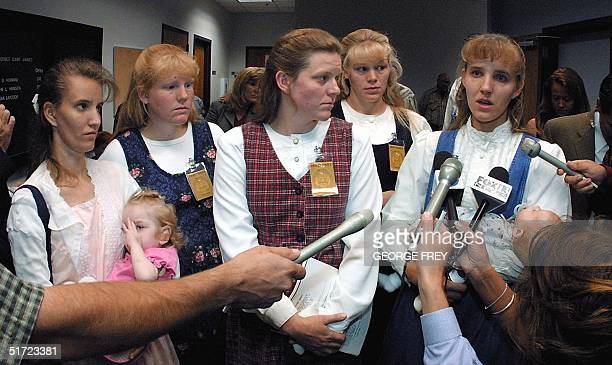 The five wives of polygamist Tom Green talk with reporters outside Fourth District Court after their husband was sentenced to two fiveyear concurrent...