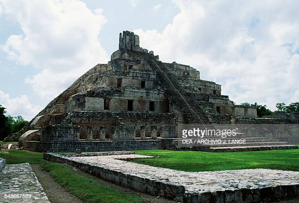 The Fivetier pyramid Great Acropolis Edzna Campeche Mexico Mayan civilisation 7th9th century