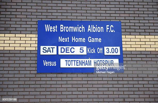 The fixture is displayed prior to the Barclays Premier League match between West Bromwich Albion and Tottenham Hotspur at The Hawthorns on December 5...