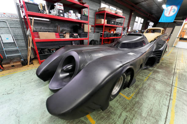 FRA: Jimmy Woods Works On A Batmobile Replica In Achicourt