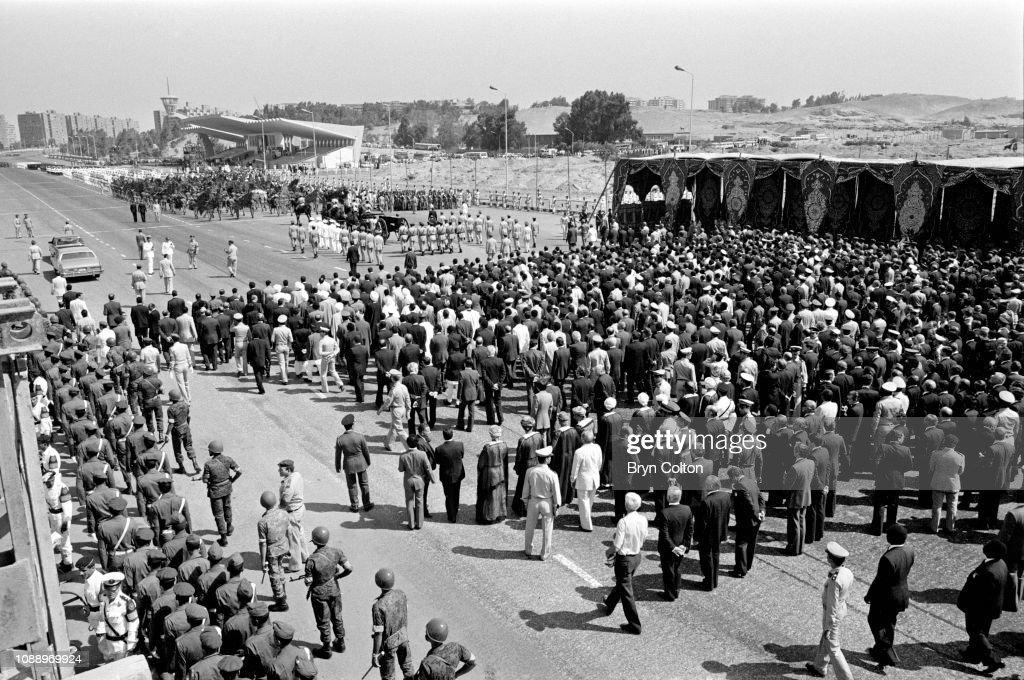 Anwar Sadat's Funeral Procession : News Photo
