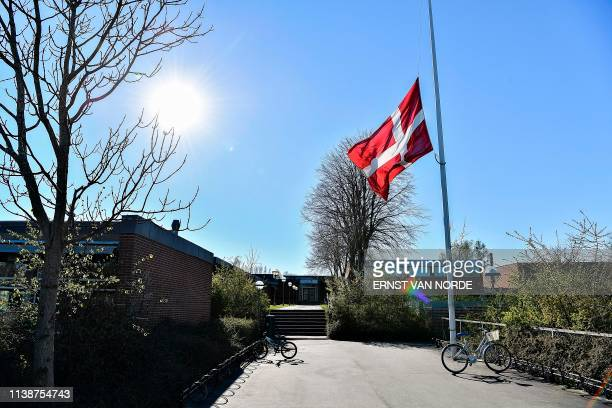 The flag is at half mast at Hojvangskolen the School attended by Danish billionaire and owner of fashion business Bestseller Anders Holch Povelsen's...