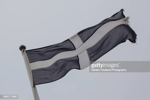 the flag of cornwall/cornish flag - cornish flag stock pictures, royalty-free photos & images