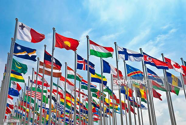 the flag of each country - national flag stock pictures, royalty-free photos & images