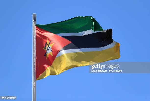 The flag of Mozambique during day five of the 2018 Commonwealth Games in the Gold Coast Australia