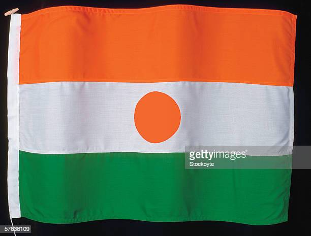 the flag of niger - nigerian flag stock photos and pictures