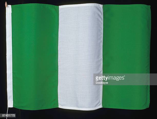 the flag of nigeria - nigerian flag stock photos and pictures
