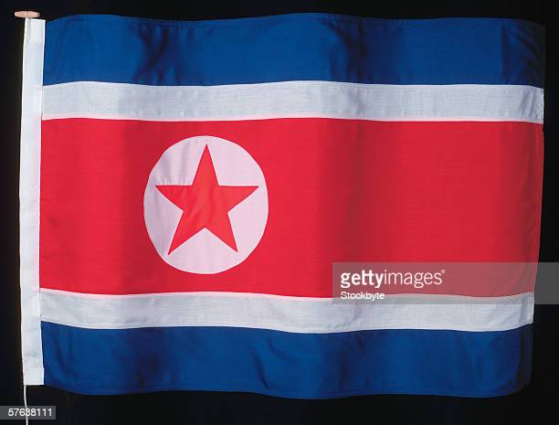 the flag of north Korea