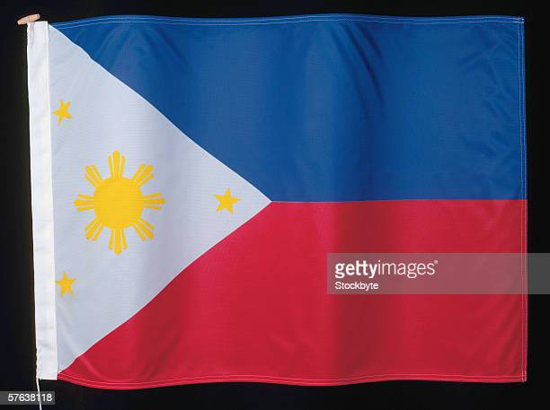 the flag of philippines - filipino flag stock pictures, royalty-free photos & images