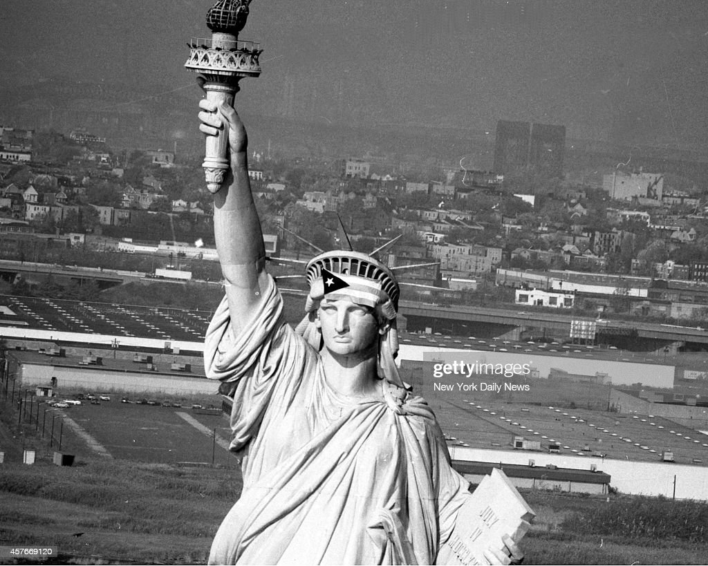 Satatue Of Liberty With Puartarican Flag Tattoo: The Flag Of Puerto Rico Flies From The Head Of The Statue