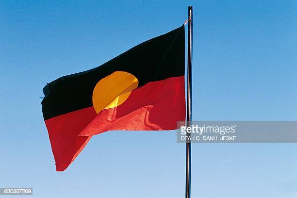 The flag of the Aboriginal people Australia
