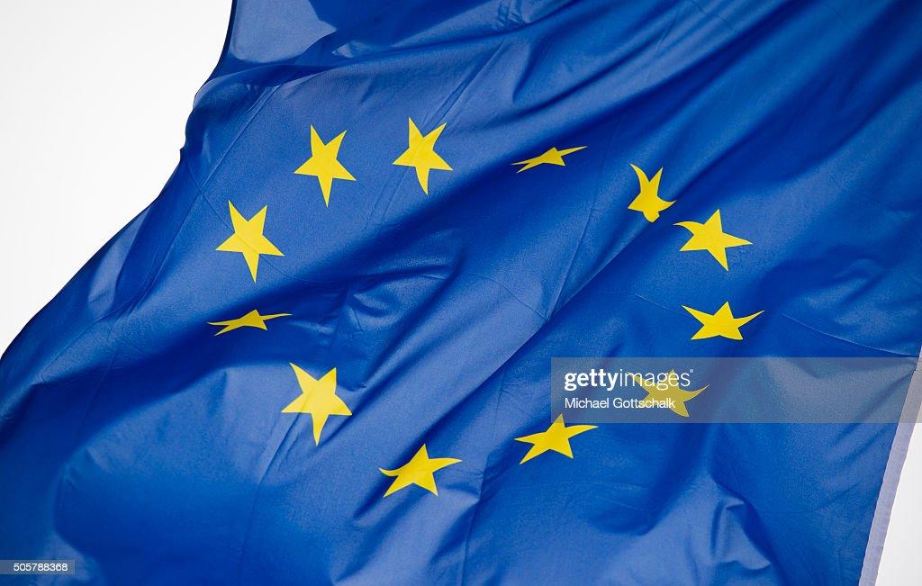 Flag of the European Union : News Photo