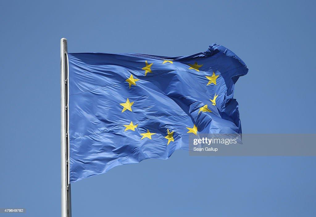 Eurozone Formulates Response To Greek Rejection : News Photo