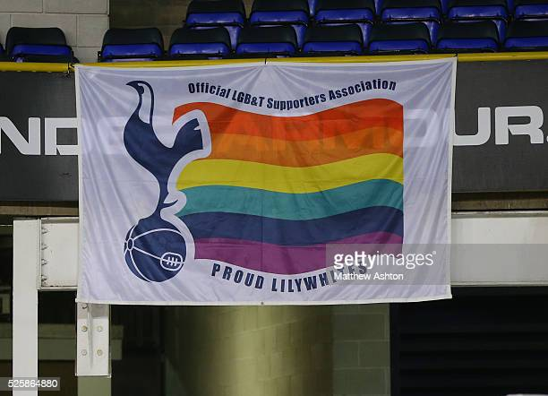 The flag of the lesbian gay bisexual or transgender supporters of Tottenham Hotspur