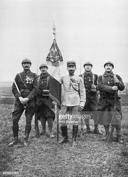 The flag of the 'Regiment de Marche' of The French Foreign Legion c19141918 The 'Regiment de Marche' was headed by the famous Colonel Rollet the...