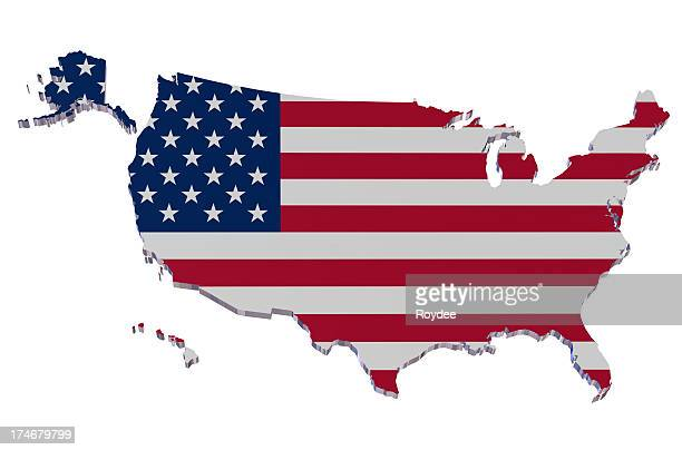 The flag of the USA illustrated as a map of the USA