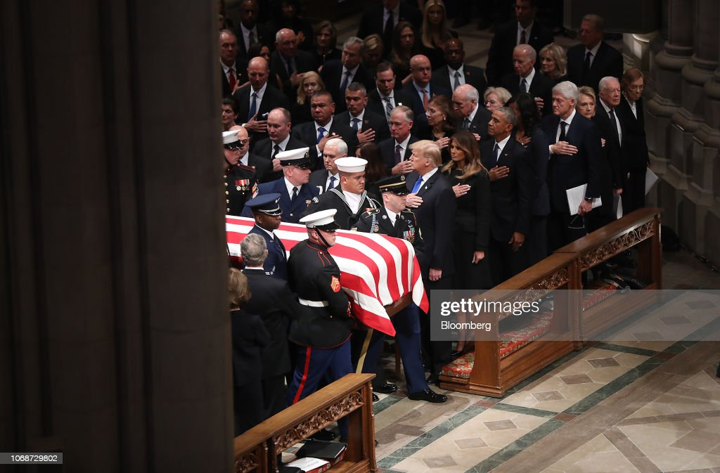 Funeral Service Held For Former U.S. President George H.W. Bush : News Photo