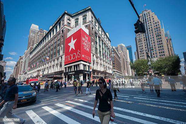 The flagship Herald Square Macy's Department Store in New York is seen on Thursday, August 14, 2013. Macy's Inc. Announced plans to sell stakes in...