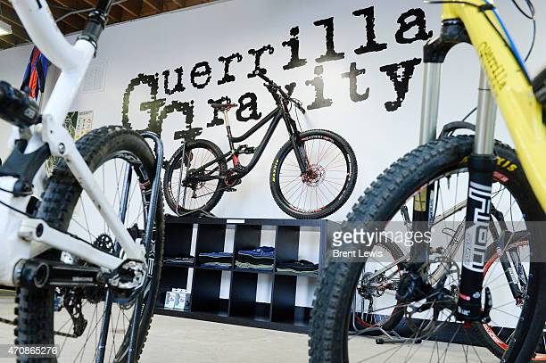 "April 16: The flagship ""Megatrail"" bike in the front of the store Friday, April 17, 2015 at Guerrilla Gravity in Denver, Colorado. Guerrilla Gravity..."