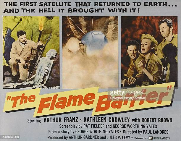 The Flame Barrier is a 1958 American Scifi film directed by Paul Landres and starring Arthur Franz and Kathleen Crowley It tells the story of a woman...