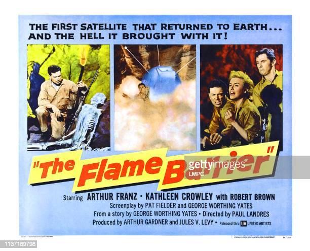 The Flame Barrier poster Arthur Franz right from left Arthur Franz Kathleen Crowley Robert Brown 1958