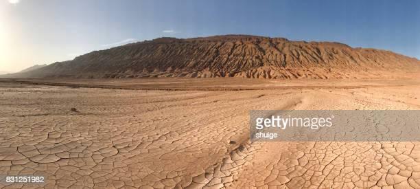 the flame mountain scenic spot in turpan city - wilderness stock pictures, royalty-free photos & images