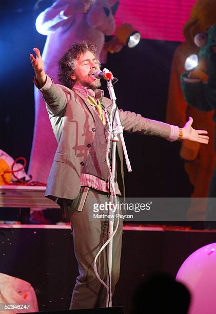 The Flaming Lips singer Wayne Coyne performs at the Nickelodeon Upfront 2005 at the Roseland Ballroom March 9 2004 in New York City