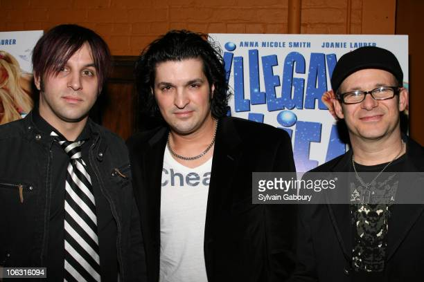 """The Flamingos during Preview screening of """"Illegal Aliens"""" at Tribeca Cinemas in New York, New York, United States."""