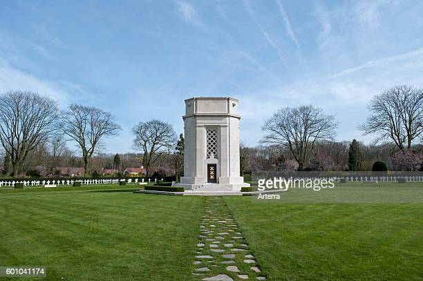 The Flanders Field American Cemetery and Memorial at Waregem the only First World War One US military cemetery in Belgium