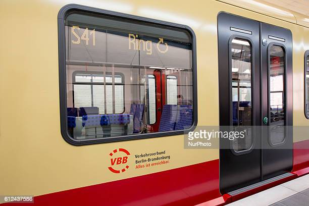 1 of the new SBahn regional local trains is pictured during a presentation to the press in Berlin Germany on October 4 2016 The new trains of type...