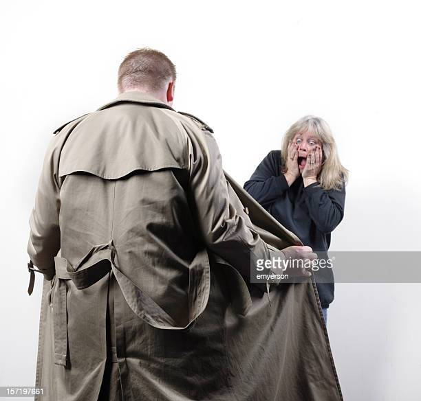 the flasher - male flashers stock photos and pictures