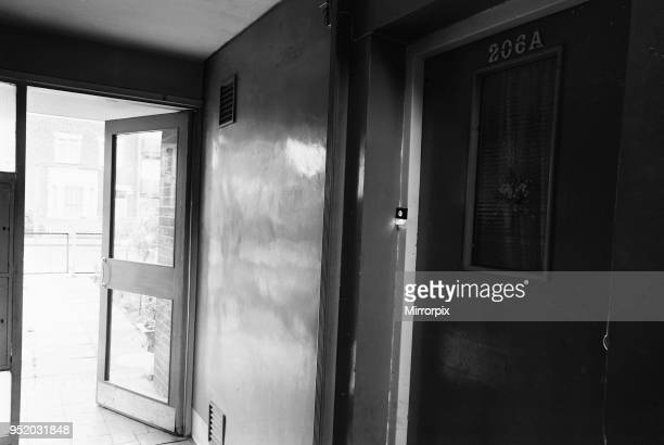 The flat belonging to Frank Mitchell at 206a Barking Road in East Ham which was named in the Kray Twins trial 25th June 1968