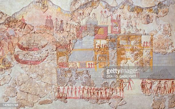 The fleet Akrotiri fresco Thera Minoan Civilization 16th Century BC Athens Ethnikó Arheologikó Moussío