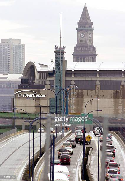 The Fleet Center where the Boston Celtics and Boston Bruins play there sporting events October 27 2003 in Boston Massachusetts Bank of America agreed...