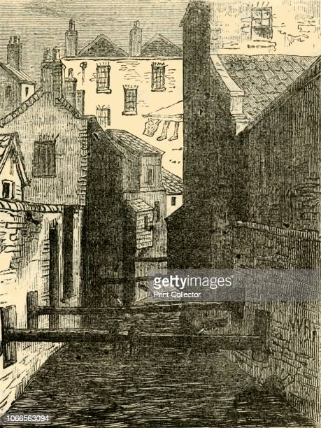 The Fleet Ditch from the Red Lion' View of the Old Red Lion Tavern in Chick Lane and the Fleet Ditch West Smithfield London The River Fleet became...