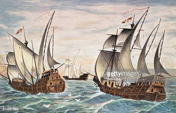 The fleet of Christopher Columbus