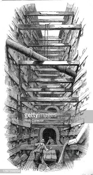 The Fleet-Street sewer, 1845. Underground waste system in London. 'It appears that although Sewers have been constructed in London for upwards of...