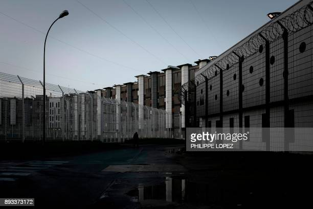 The FleuryMerogis prison the largest prison in Europe located in the town of FleuryMerogis some 30 kms south of the French capital Paris is pictured...