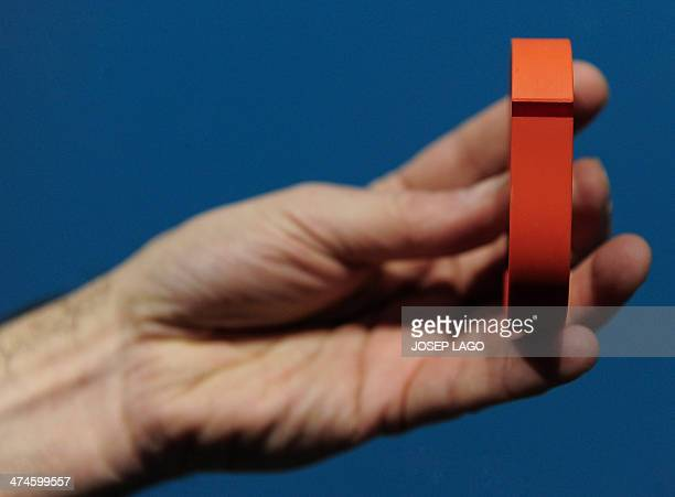 The 'Flex' an 'electronic coach' by Fitbit is presented at the Mobile World Congress in Barcelona on February 24 2014 The Mobile World Congress runs...