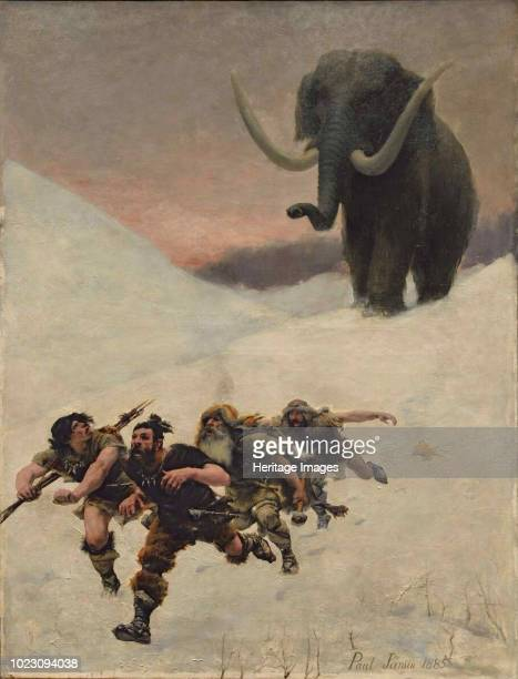 The Flight Before the Mammoth 1885 Found in the Collection of Musée de l'Homme Paris