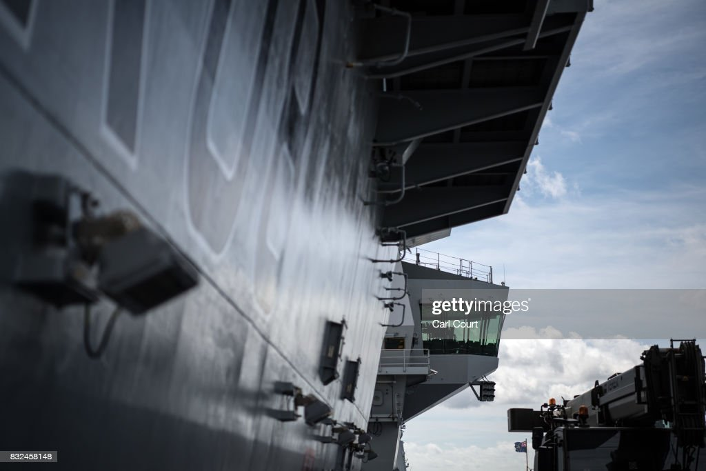 The flight communications room is pictured on HMS Queen Elizabeth shortly after her arrival in Portsmouth Naval Docks on August 16, 2017 in Portsmouth, England. HMS Queen Elizabeth is the lead ship in the new Queen Elizabeth class of supercarriers. Weighing in at 65,000 tonnes she is the largest warship deployed by the British Royal Navy. She is planned to be in service by 2020 and with a second ship, HMS Prince of Wales, to follow.