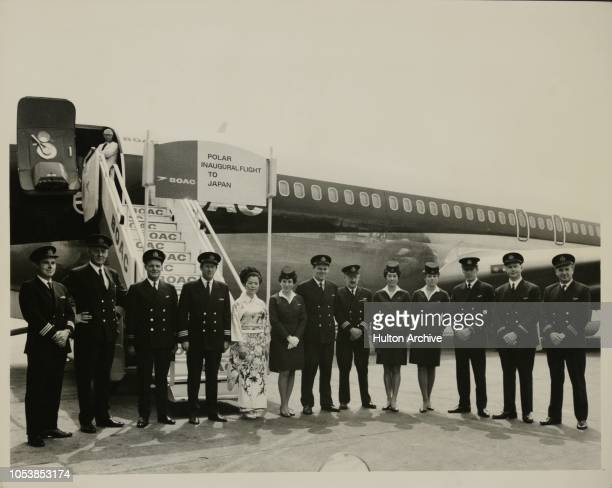 C Inaugurates Polar Flight To Japan Today Monday 5th May saw the inaugural BOAC London Tokyo flight via North Pole utilising their Boeing 707 jet...