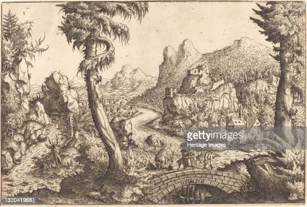 The Flight into Egypt, 1558. Artist Hans Sebald Lautensack.