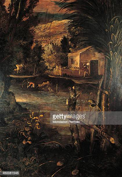 The Flight into Egypt by Jacopo Robusti known as Tintoretto 1583 1587 16th Century olio su tela 422 x 580 cm