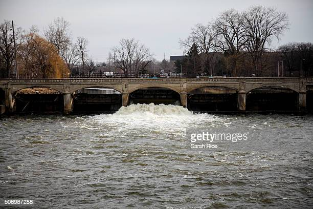The Flint River is shown on February 7 2016 in Flint Michigan Months ago the city told citizens they could use tap water if they boiled it first but...