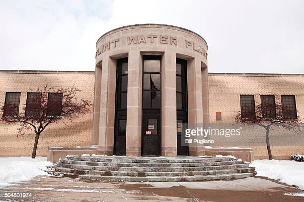 The Flint Water Plant is shown January 13 2016 in Flint Michigan On Tuesday Michigan Gov Rick Snyder activated the National Guard to help the...