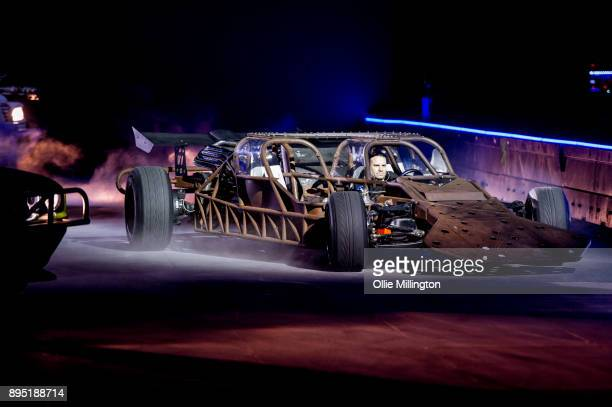 The Flip Car used onscren in Fast Furious 6 seen during the during the 'Fast Furious Live' technical rehearsal at NEC Arena on December 18 2017 in...