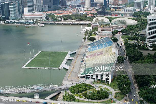 The Float and Seating Gallery at Marina Bay, One Fullerton Hotel, Theatres by the bay, Helix Bridge, taken from Singapore Flyer, Observation Wheel,...