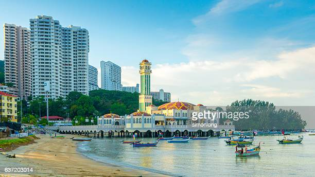 The Floating Mosque of Tanjung Bungah, in Penang, Malaysia